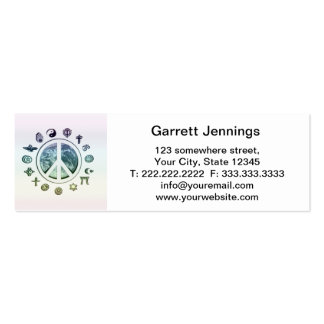 World Peace Business Cards