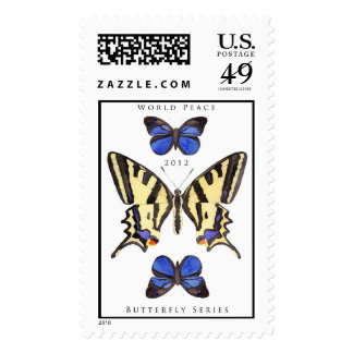 World Peace Butterfly Series no1 Postage Stamps