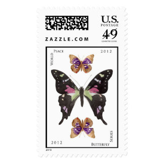 World Peace Butterfly Series no 3 Postage Stamps