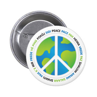 World Peace Pinback Button