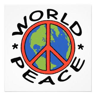 World Peace Card Personalized Invitations