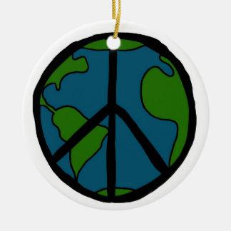 World Peace Ceramic Ornament