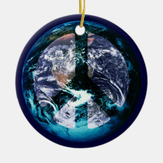 World Peace Ceramic Ornament