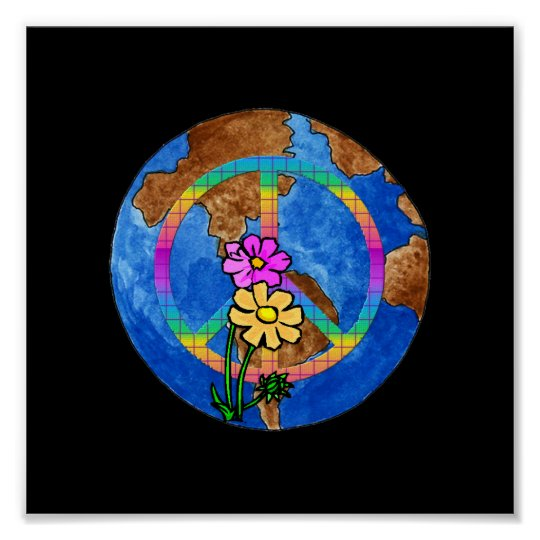 World Peace Colors Poster