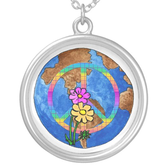 World Peace Colors Silver Plated Necklace
