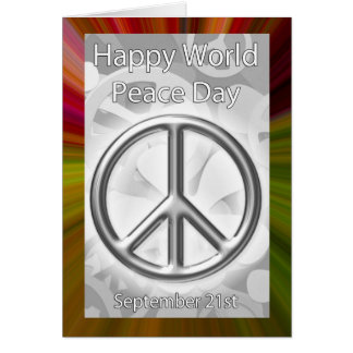 World Peace Day Card September 21