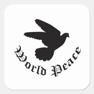 World Peace Day Square Sticker