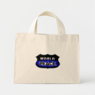 World Peace Design Mini Tote Bag