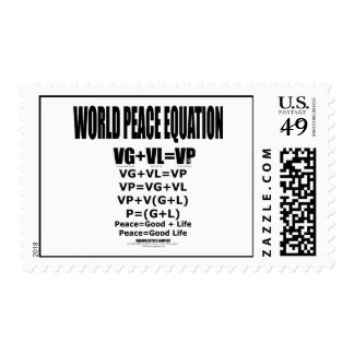 WORLD PEACE EQUATION POSTAGE