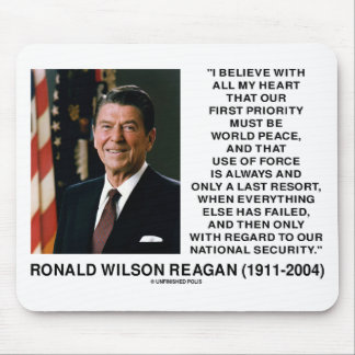 World Peace Force Last Resort Security Reagan Mouse Pad