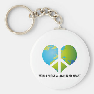 World Peace & Love in my Heart Key Chains