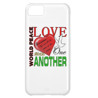 World Peace Love one Another Original Design Case For iPhone 5C