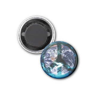 World Peace 1 Inch Round Magnet