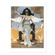 World Peace March Vintage Songbook Cover Postcard