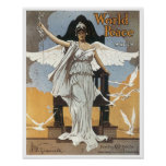 World Peace March Vintage Songbook Cover Poster