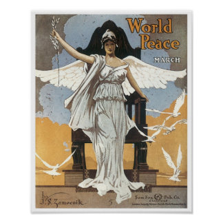 World Peace March Vintage Songbook Cover Print