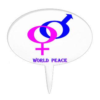 World Peace (Men and Women United) Cake Topper