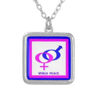 World Peace (Men and Women United) Silver Plated Necklace