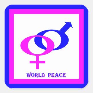 World Peace (Men and Women United) Square Sticker