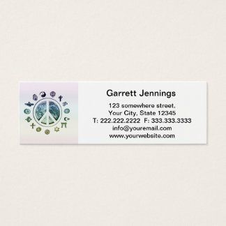 World Peace Mini Business Card