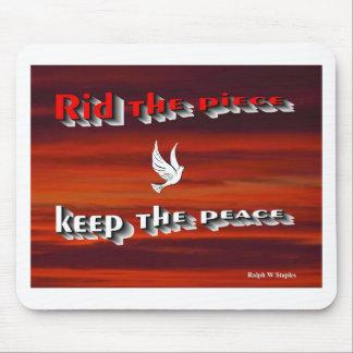 World peace Mouse pad
