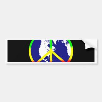 World Peace On Black Bumper Sticker