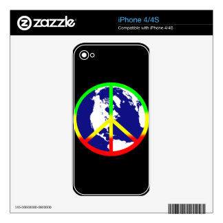 World Peace On Black Skin For iPhone 4S