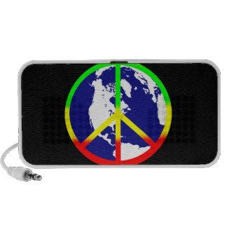 World Peace On Black PC Speakers