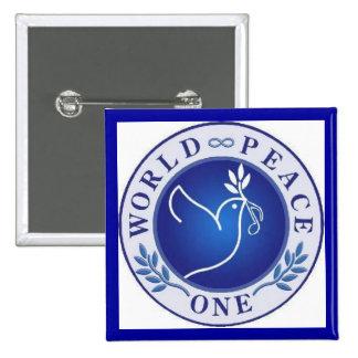 world peace one pinback button