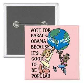 WORLD PEACE PINBACK BUTTONS