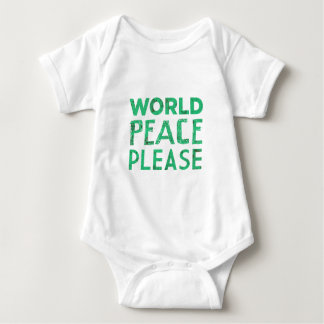 World Peace Please Baby Bodysuit