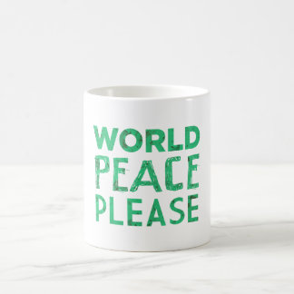 World Peace Please Coffee Mug