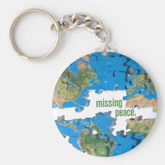 World Peace Puzzle Basic Round Button Keychain