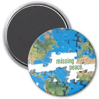 World Peace Puzzle Magnet