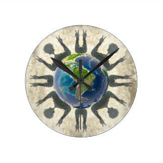 World Peace Round Clock