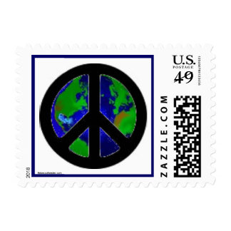 World Peace Sign Postage Stamp