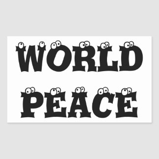 WORLD PEACE Sticker Rectangular Stickers