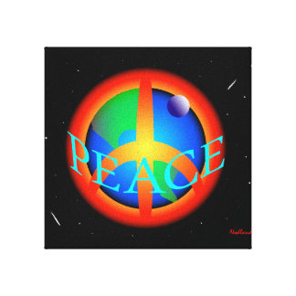 WORLD PEACE STRETCHED CANVAS PRINT