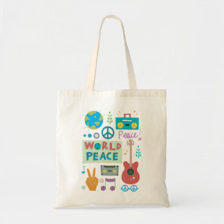 World Peace Symbols Tote Bag