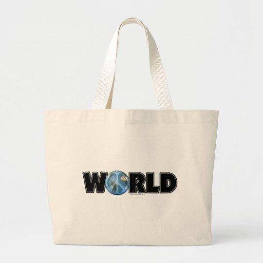 World Peace Too Large Tote Bag