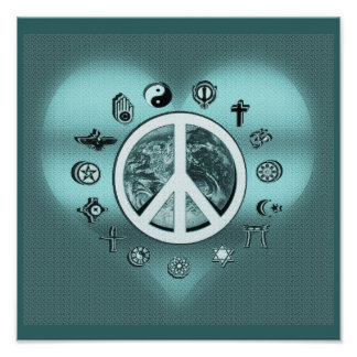 World Peace with Heart Poster