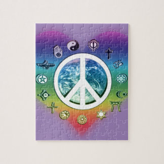 World Peace with Religious Symbols Jigsaw Puzzle