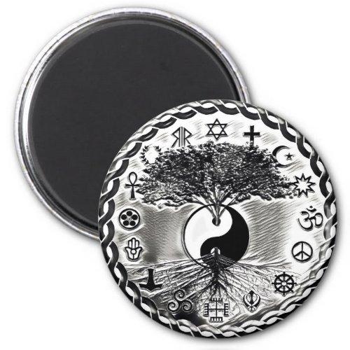 World Peace Yin Yang Magnet