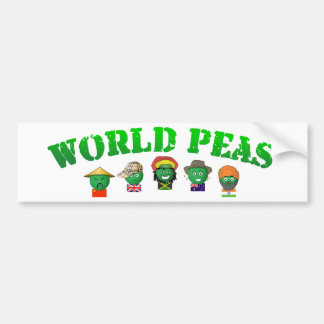 World Peas Bumper Sticker