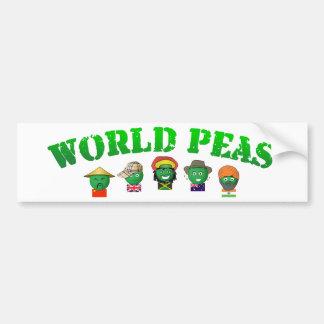 World Peas Bumper Sticker