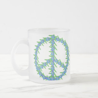 World Peas Frosted Glass Coffee Mug