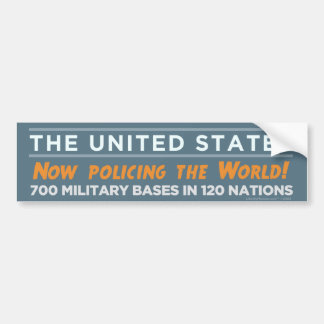 World Police USA Bumper Sticker