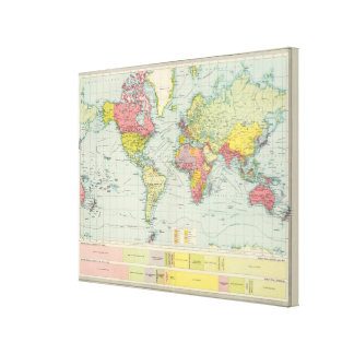 World political Map Canvas Print