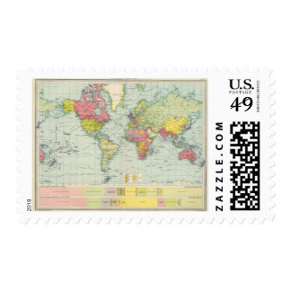 World political Map Postage