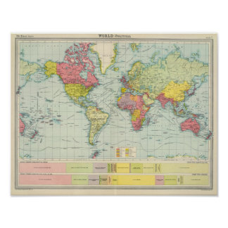 World political Map Poster